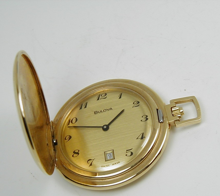 ee3972468 BULOVA MODERN HUNTER POCKET WATCH IN NEAR PERFECT CONDITION 1970