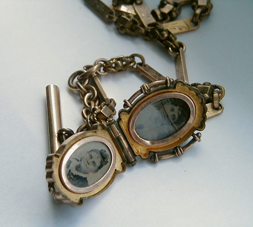 Antique pocket watch and chain